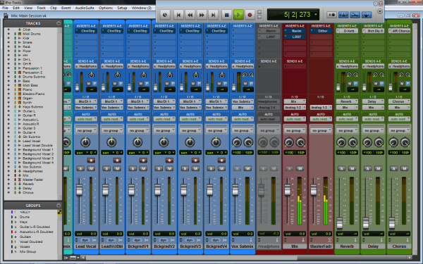 Pro Tools Mix Window